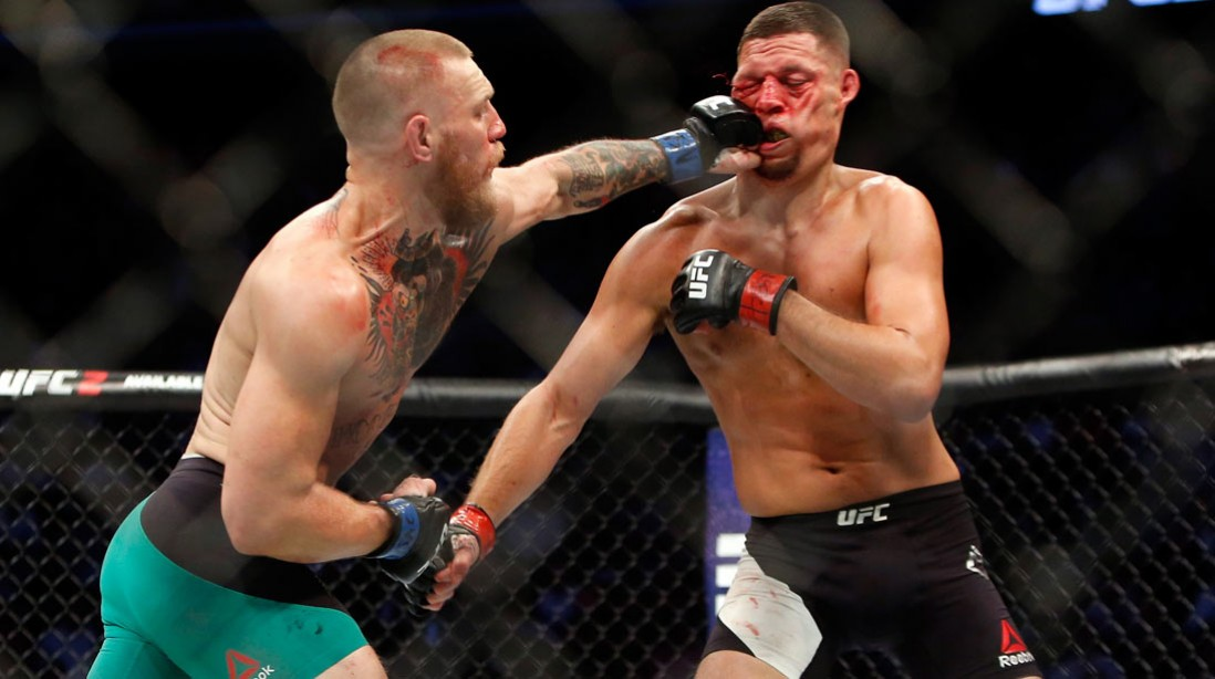 Conor McGregor Defeats Nate Diaz By Majority Decision at UFC 202
