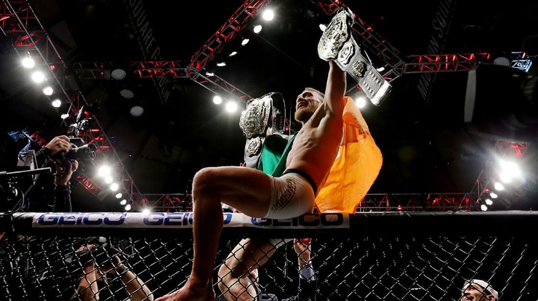 Conor McGregor Defeats Eddie Alvarez By Second Round TKO at UFC 205