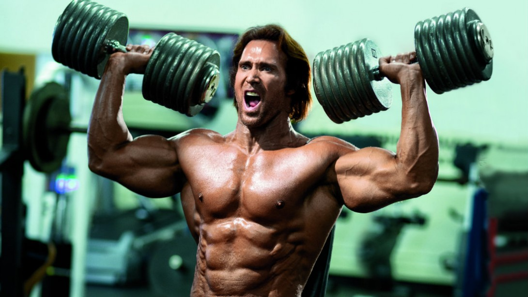 Mike O'Hearn Dumbbell Shoulder Press