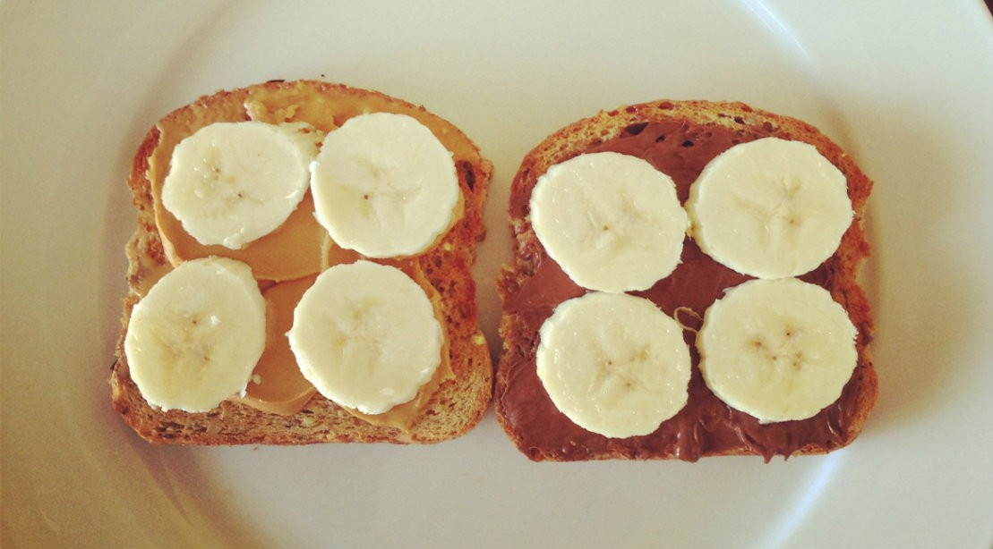 Peanut butter and banana toast