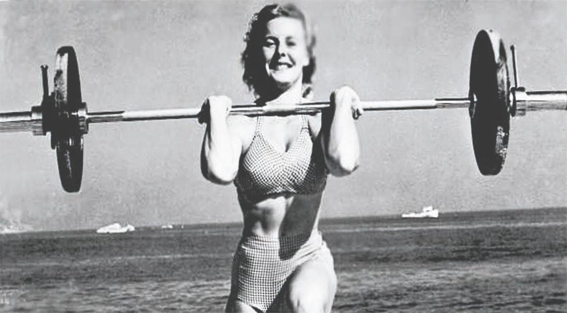 "Abbye ""Pudgy"" Stockton era a garota original da Muscle Beach"