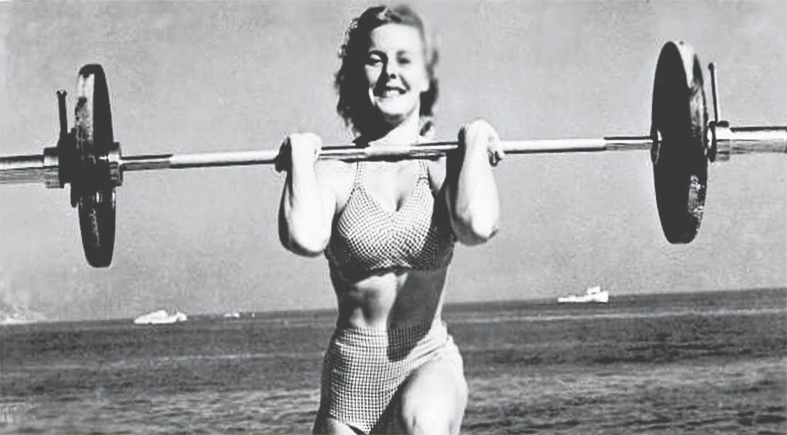 "Abbye ""Pudgy"" Stockton was the original Muscle Beach Girl ""title ="" Abbye ""Pudgy"" Stockton was the original Muscle Beach Girl ""/>    <div class="