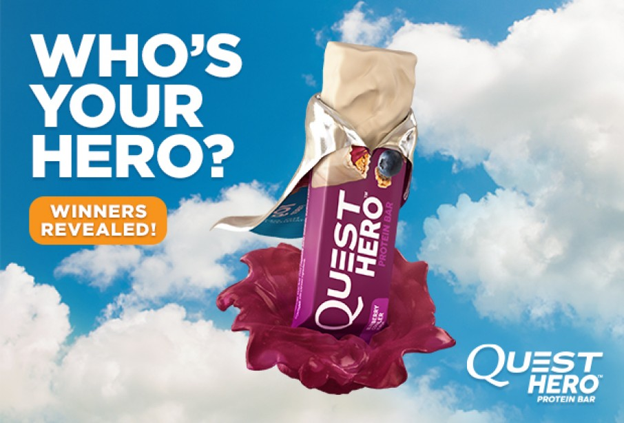 Quest Who's Your Hero announcement