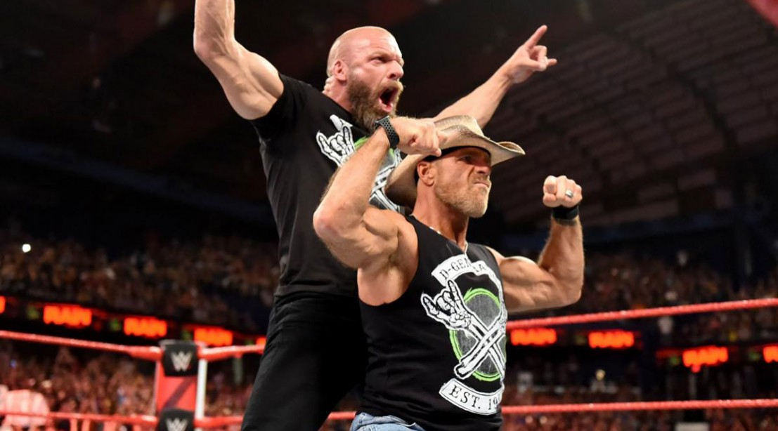 Triple H and Shawn Michaels reunite to form D-X.