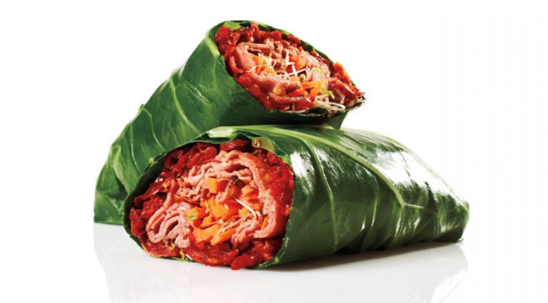 Roast Beef Collard Wrap
