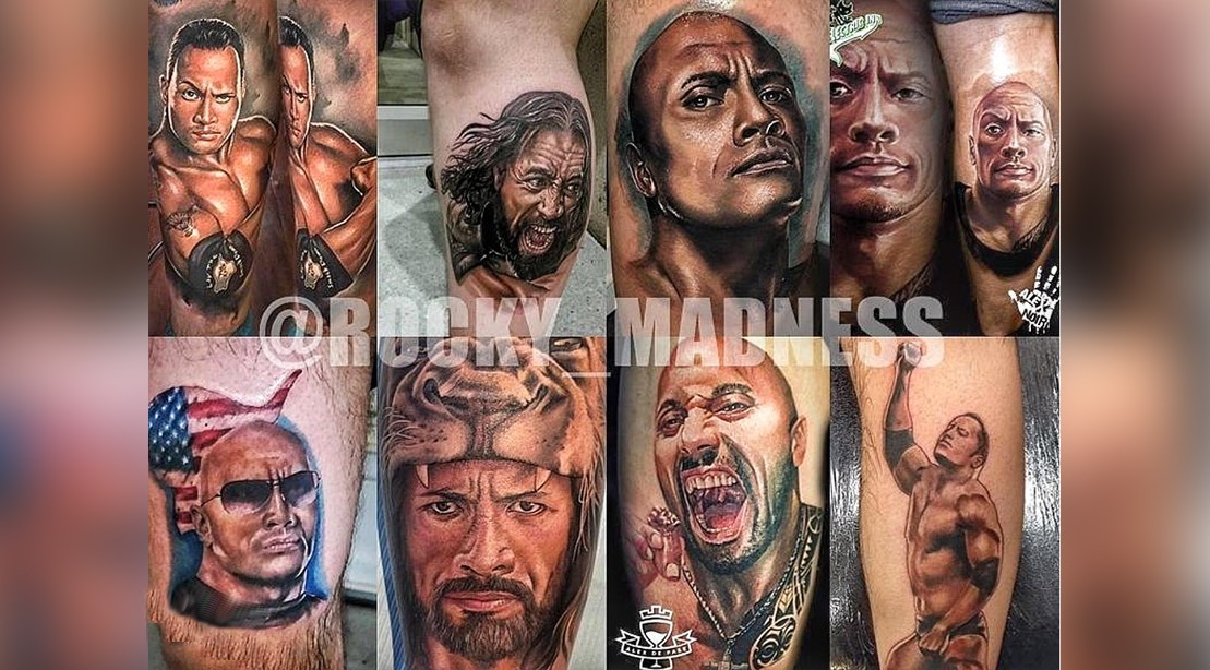 The Internets Craziest Tattoos Of The Rock Muscle Fitness