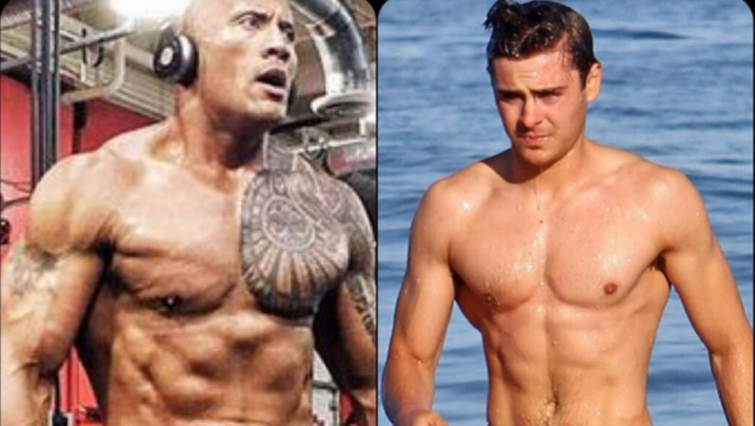 The Rock and Zac Efron