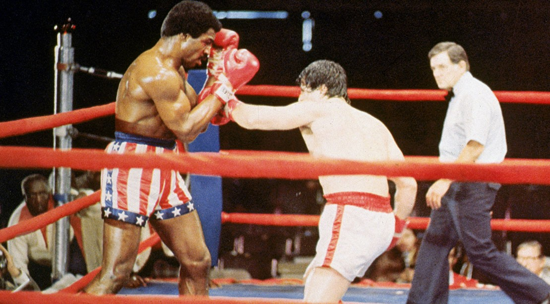 Sylvester Stallone and Carl Weathers in 'Rocky.'