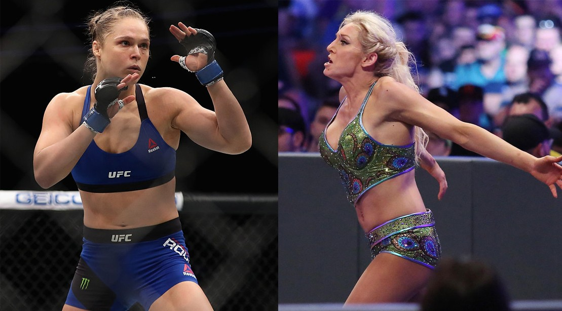 Ronda Rousey and Charlotte Flair