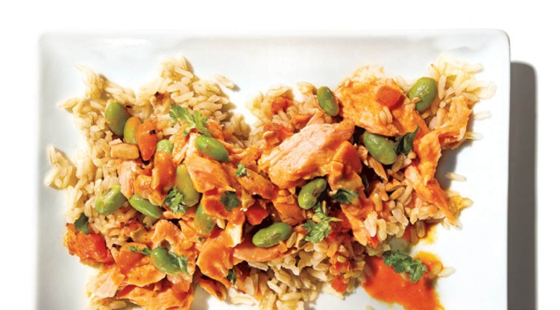 Convenient Meal: Salmon Curry