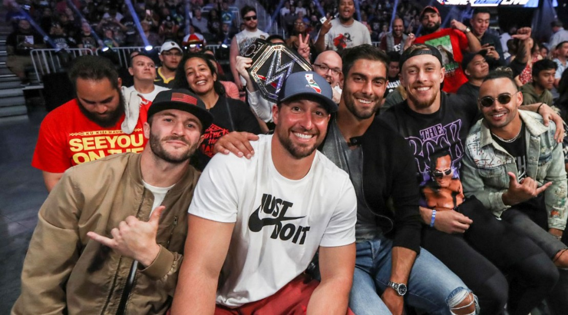 San Francisco 49ers Attend WWE SmackDown