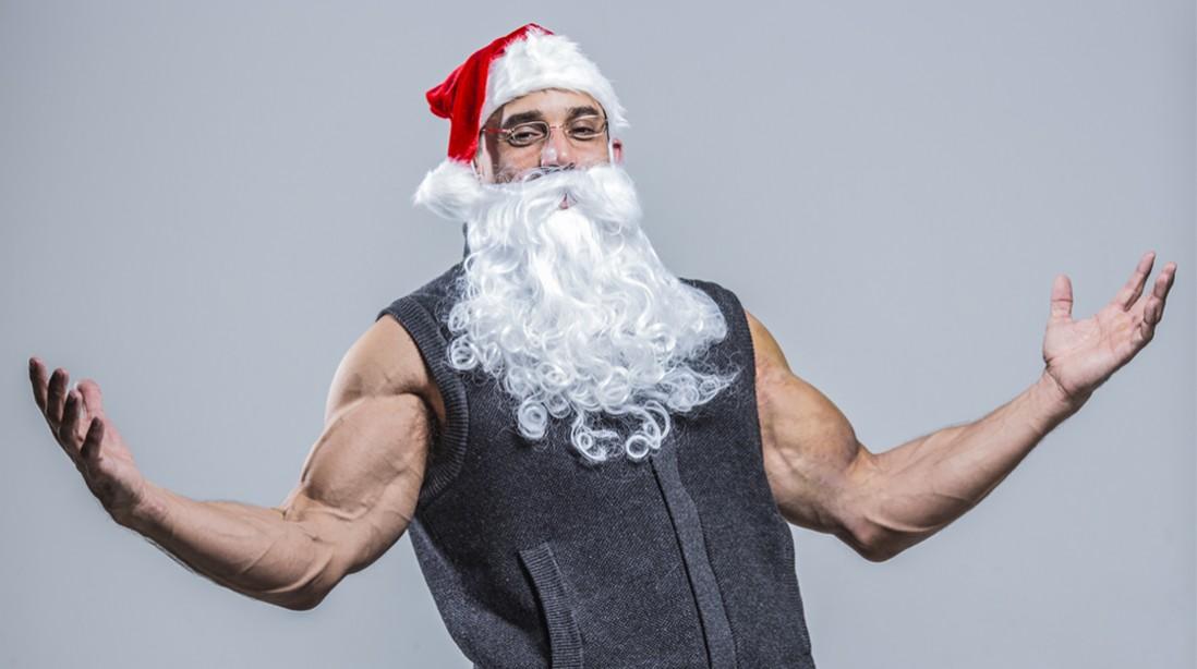 Ho-Ho-WHOA! Santa's Transformation to Jolly to Jacked