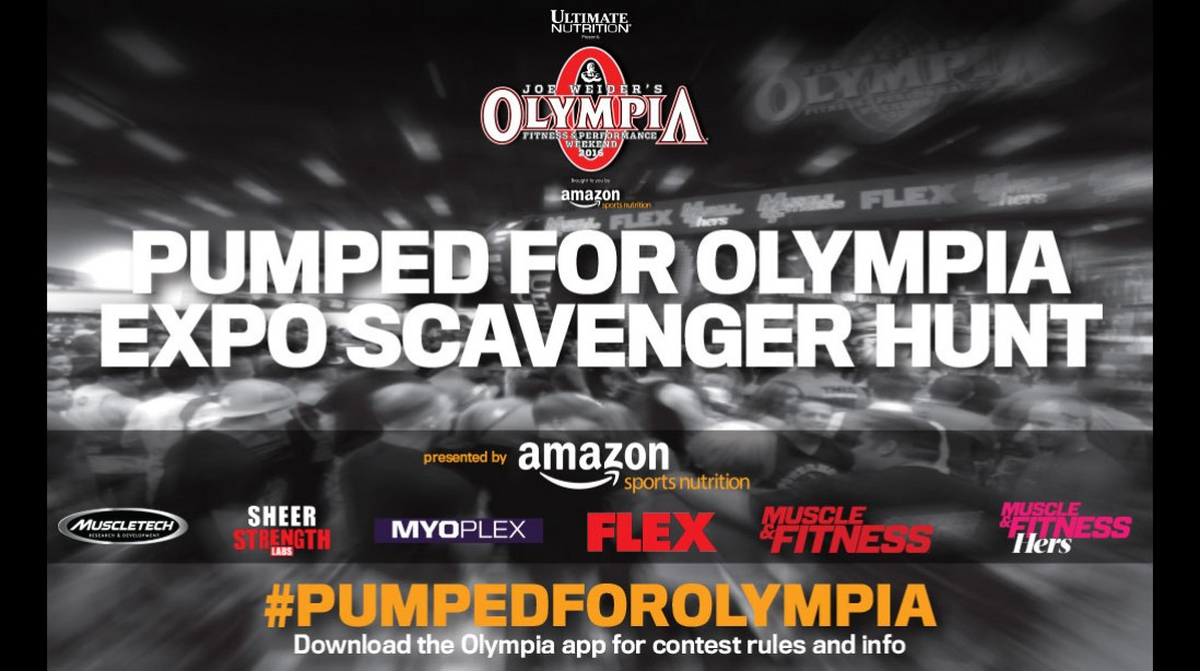 Get Pumped for Olympia Expo Scavenger Hunt