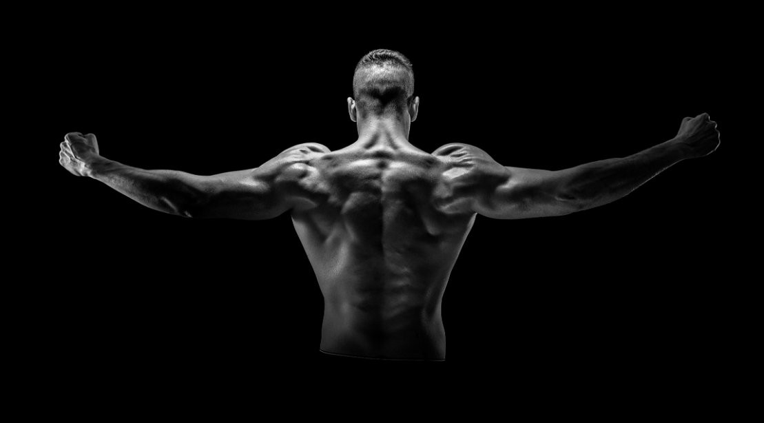 Shoulder Raise from Back - Black and White