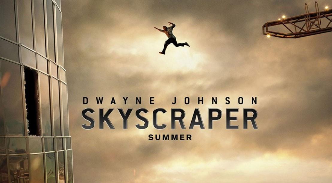 """Dwayne """"The Rock"""" Johnson in Skyscraper"""