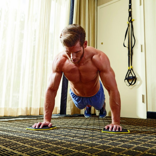 Slider Lateral Pushup A