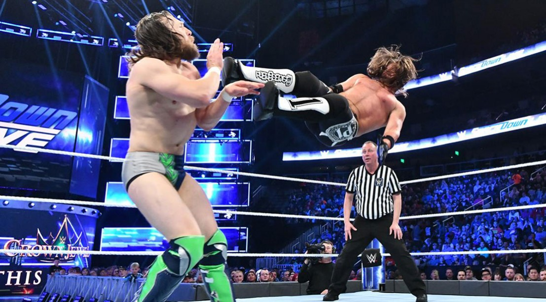 AJ Styles going against Daniel Bryan on Smackdown.