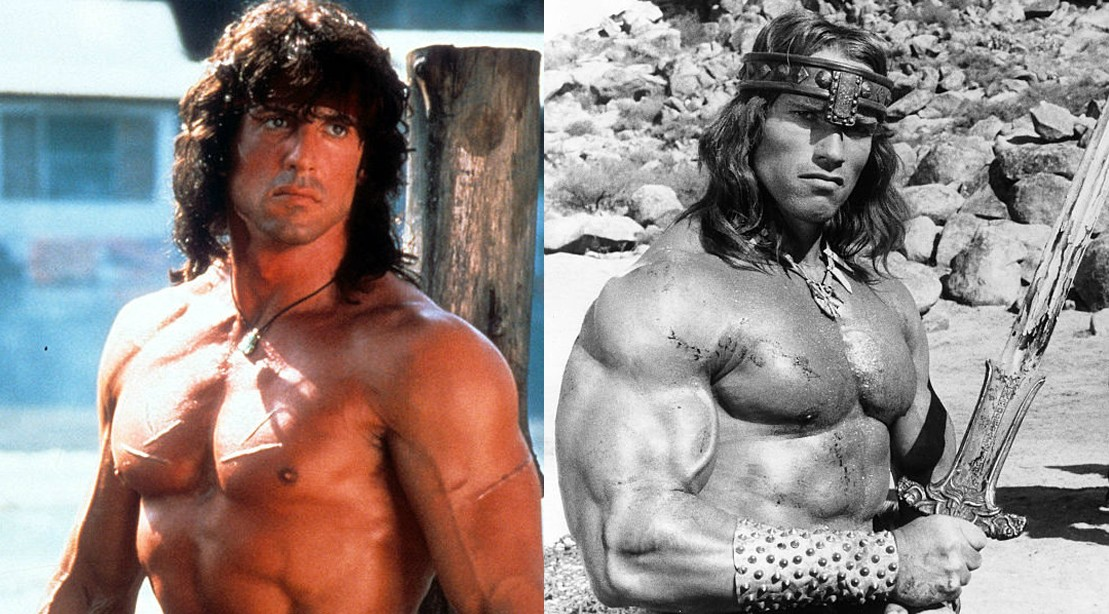 Action Hero Icons Stallone and Schwarzenegger Still Got the Muscle