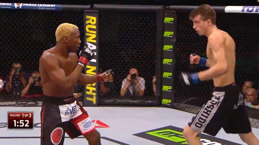 UFC Fighter Matt Dwyer Ends Fight With Superman Punch