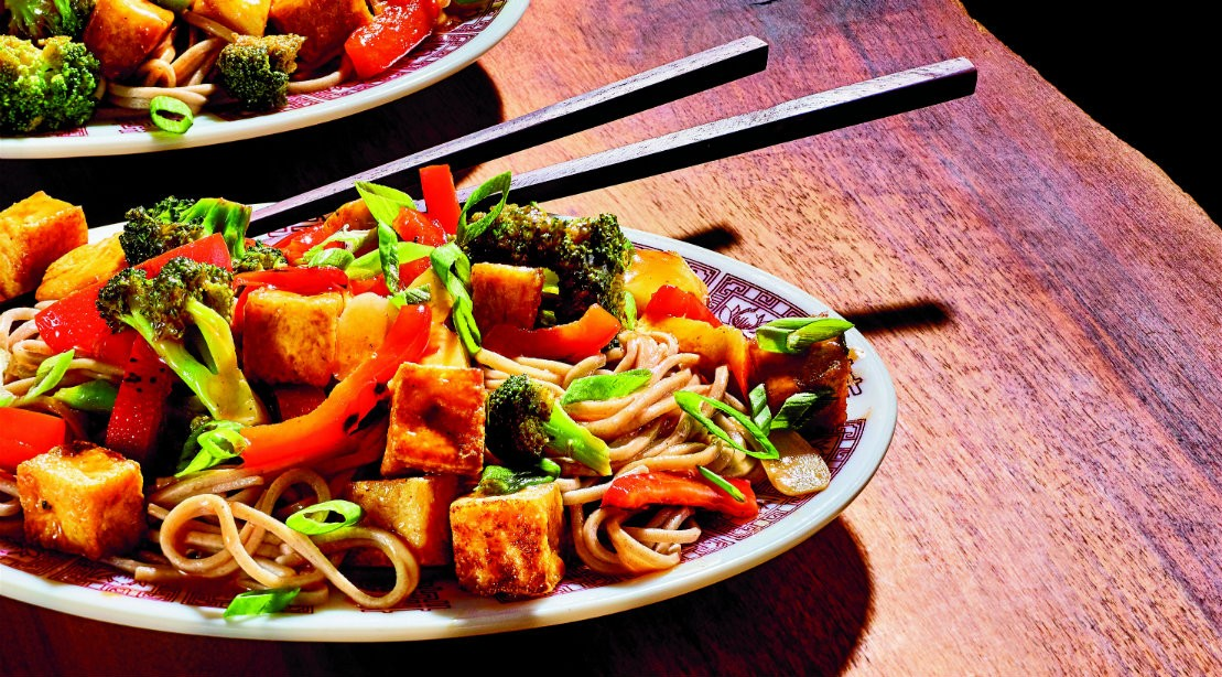 Wok This Way: Sweet and Sour Tofu Soba Stir-Fry