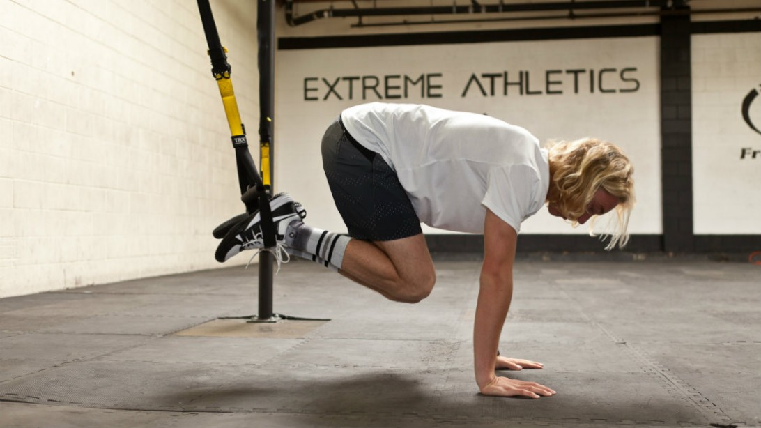 TRX suspension strap exercise