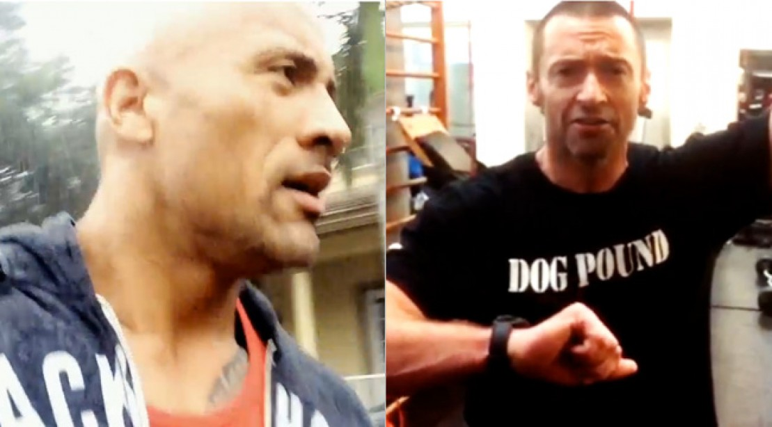 The Rock and Hugh Jackman