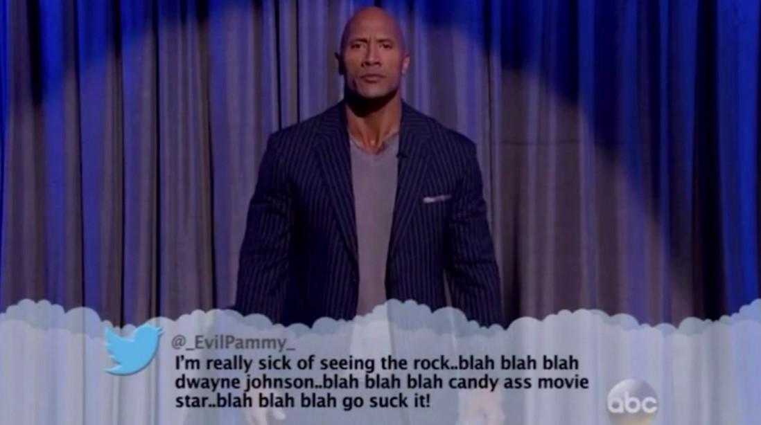 The Rock Mean Tweets