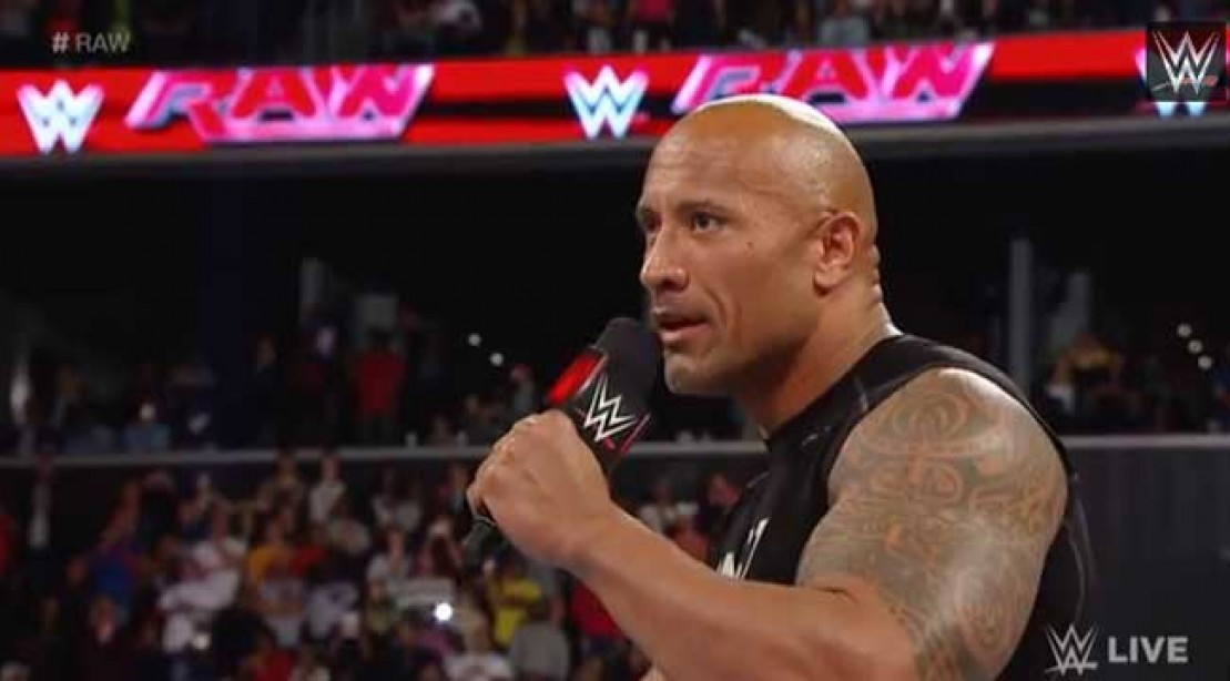 The Rock on WWE Raw