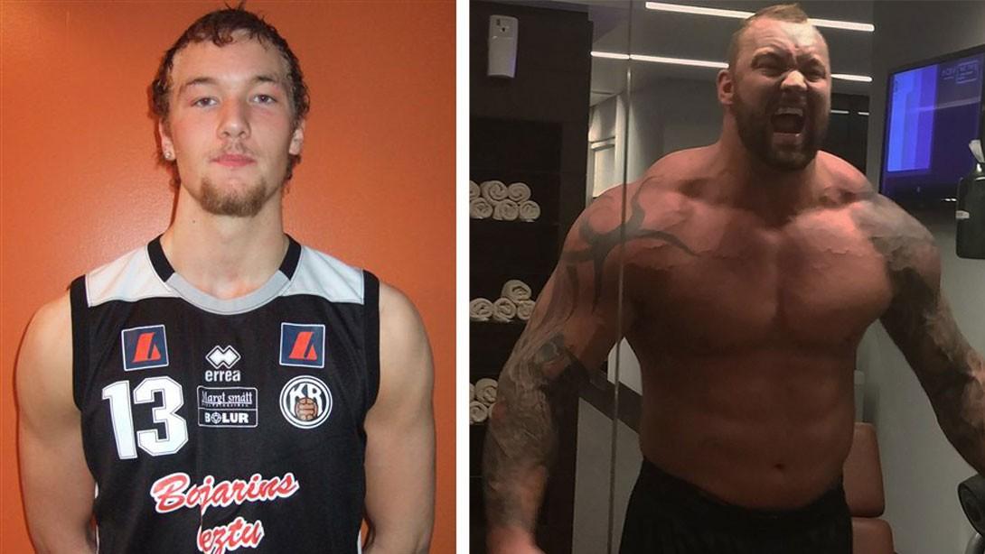 Tall muscular guys intimidating