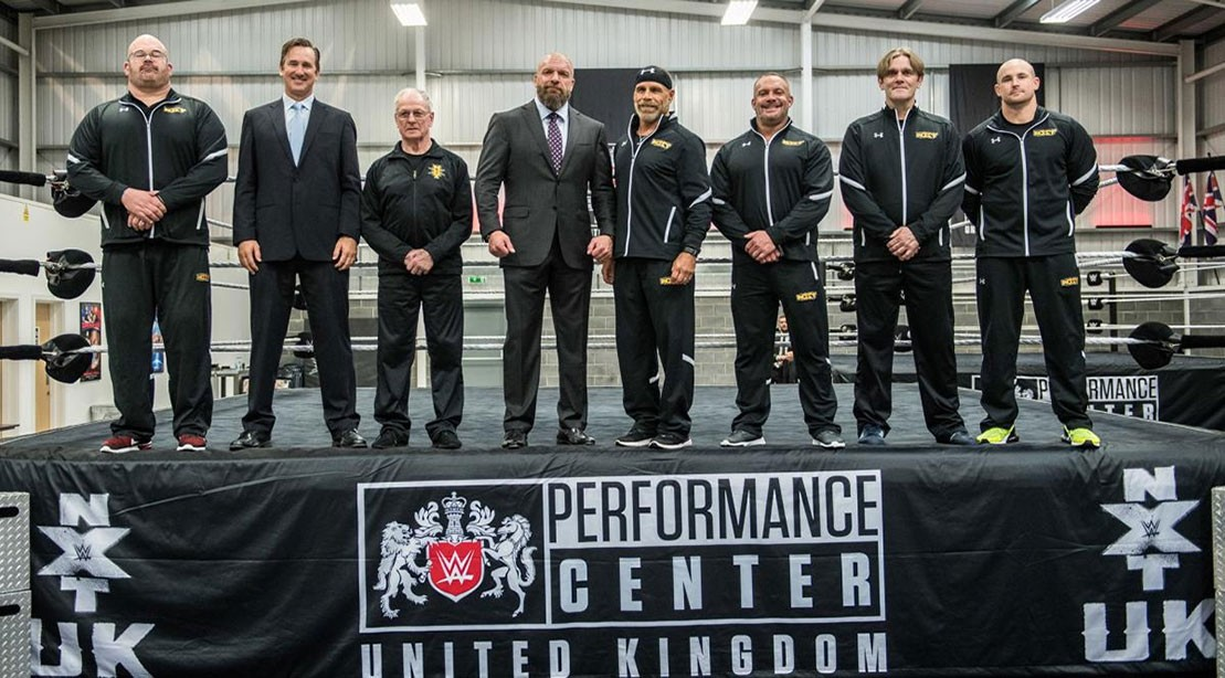 Triple H talks at the WWE UK Performance Center