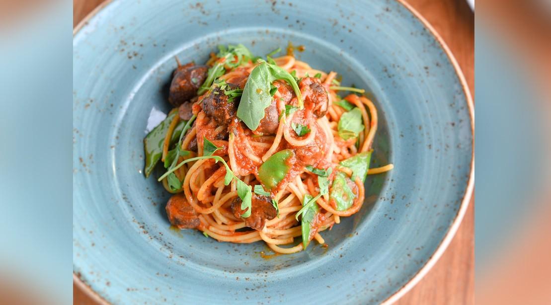 Vegan Mushroom Spaghetti