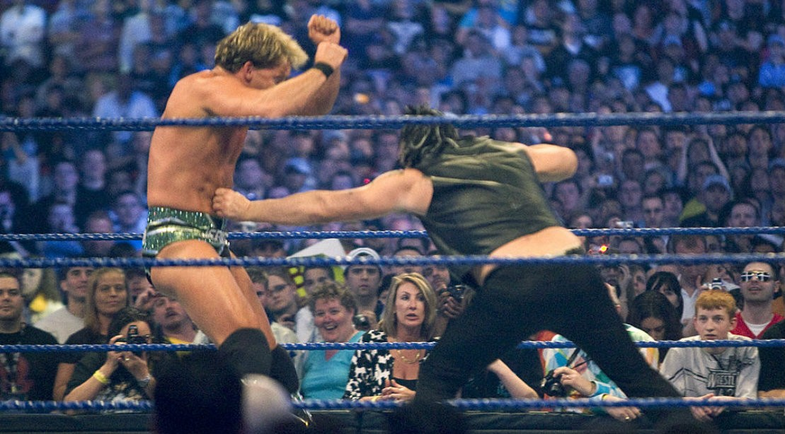 WWE Chris Jerricho Punch at WrestleMania