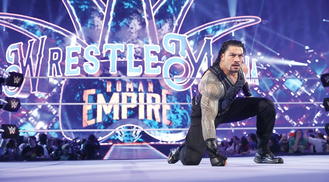 WWE-Superstar-Wrestler-Roman-Reign-In-WWE-Ring