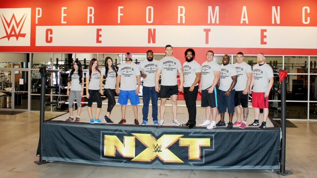 WWE new recruits at Performance Center