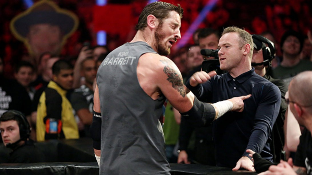 WWE's Wade Barrett Smacked Down by Wayne Rooney
