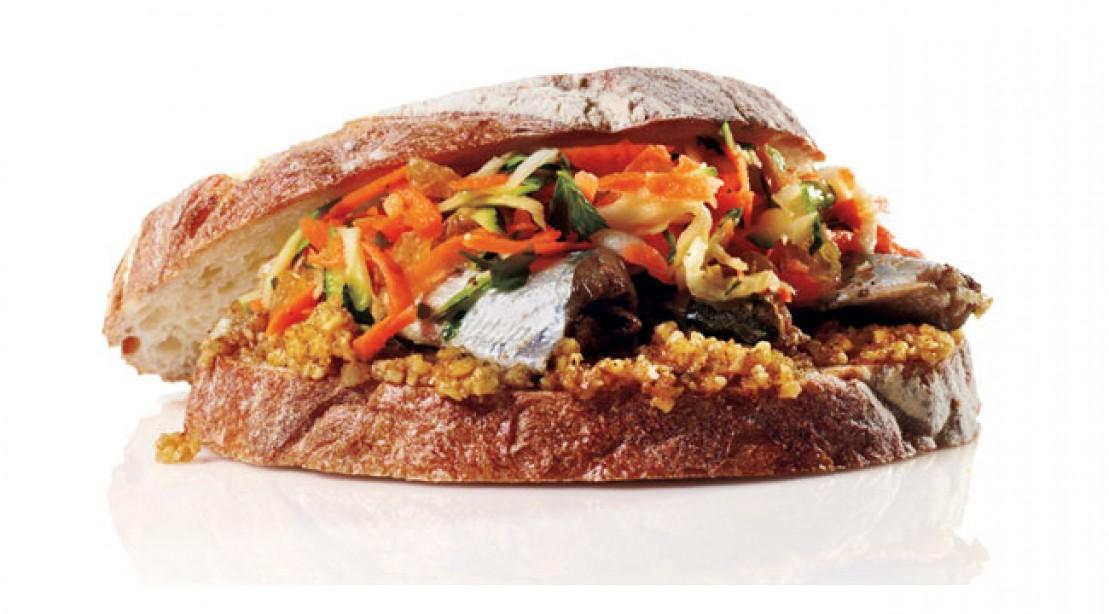 Walnut Sardine Sandwich