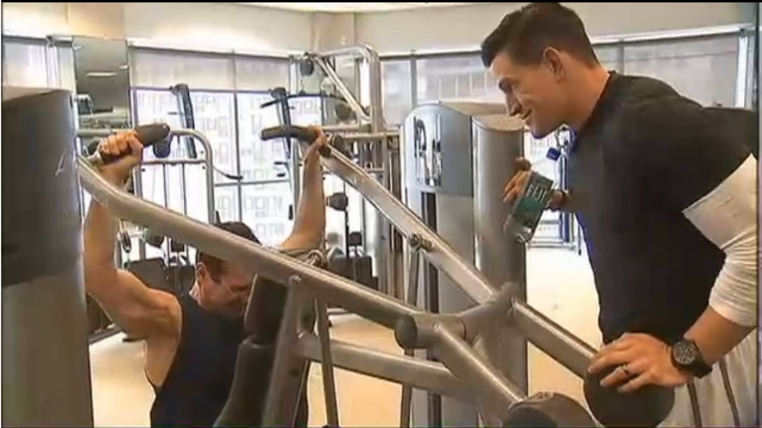 Steve Weatherford in gym