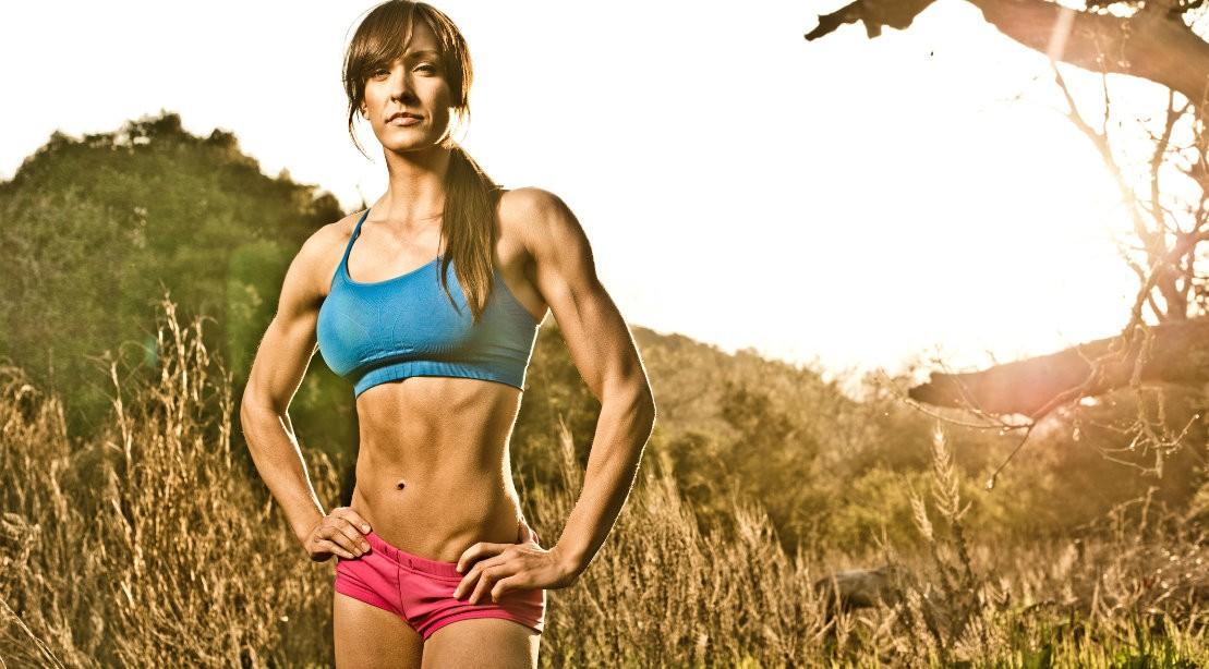 Gym woman intimidating body language