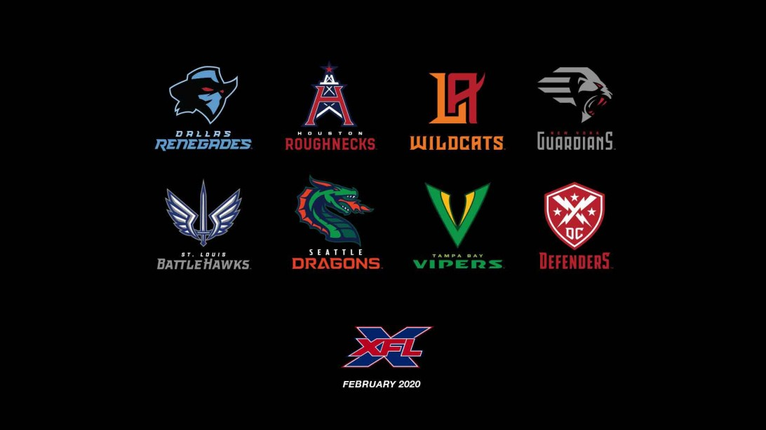 XFL Unveils its Team Names and Logos