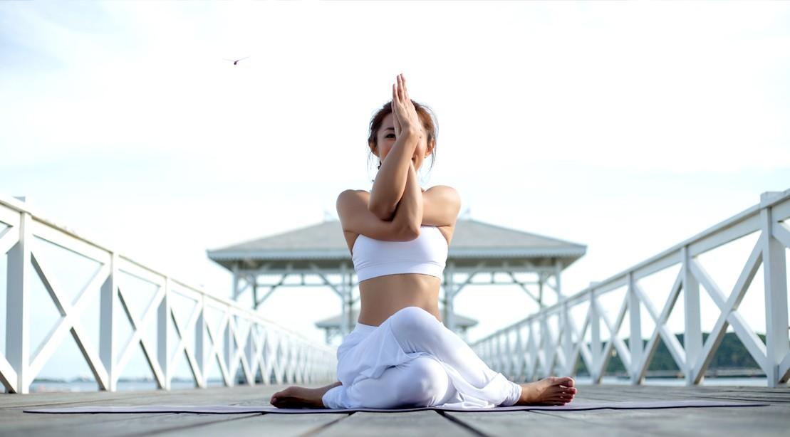 Yoga Pose Eagle Arms
