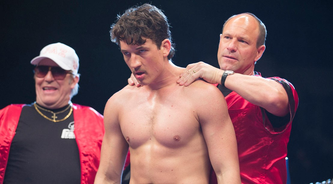 """Aaron Eckhart as Kevin Rooney in """"Bleed for This"""""""