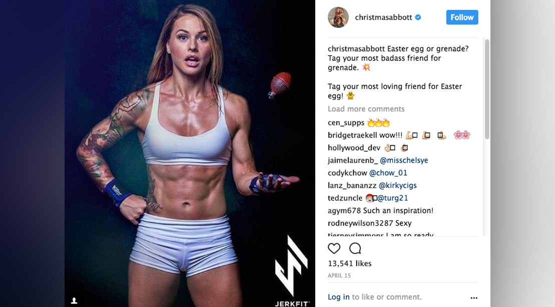 Christmas Abbott Workout.Crossfit Athlete Christmas Abbott S Sexiest Photos On