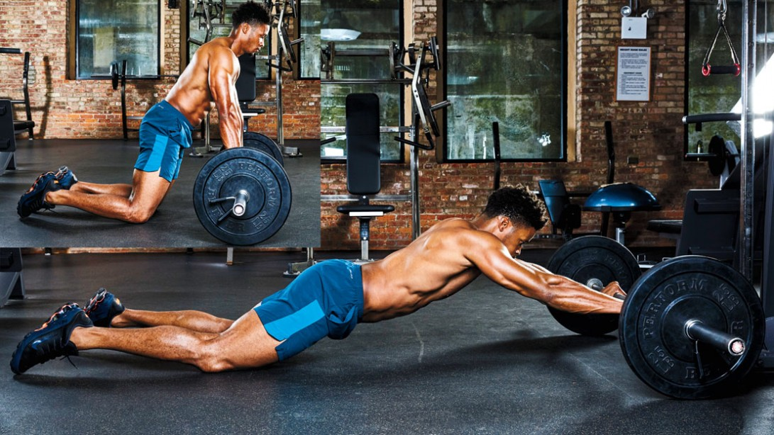 The barbell rollout training for a strong core and spine