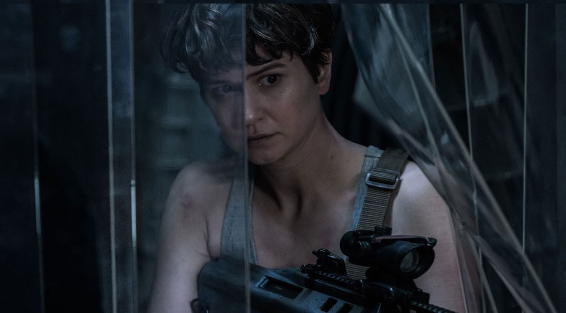 Alien: Covenant, Katherine Waterson's Daniels searches for aliens