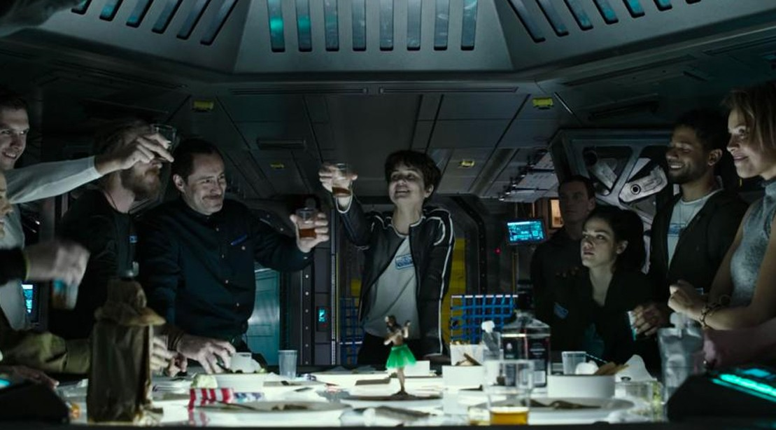 Watch: 'Alien: Covenant' Crew Celebrates 'Last Supper' in New Prologue Clip