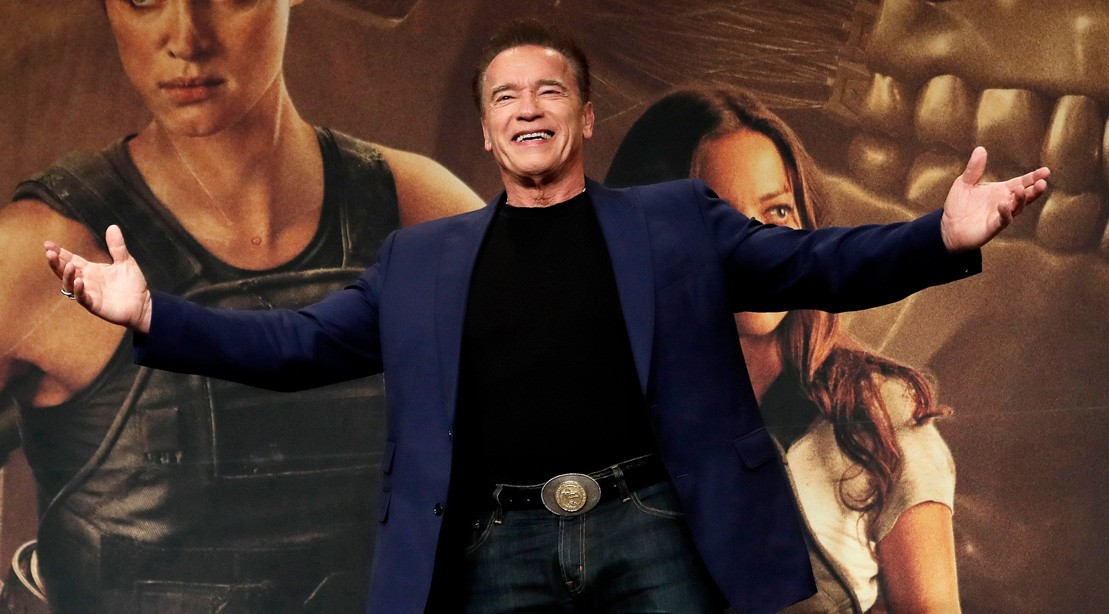 Arnold Schwarzenegger at 'Terminator: Dark Fate' Press Conference