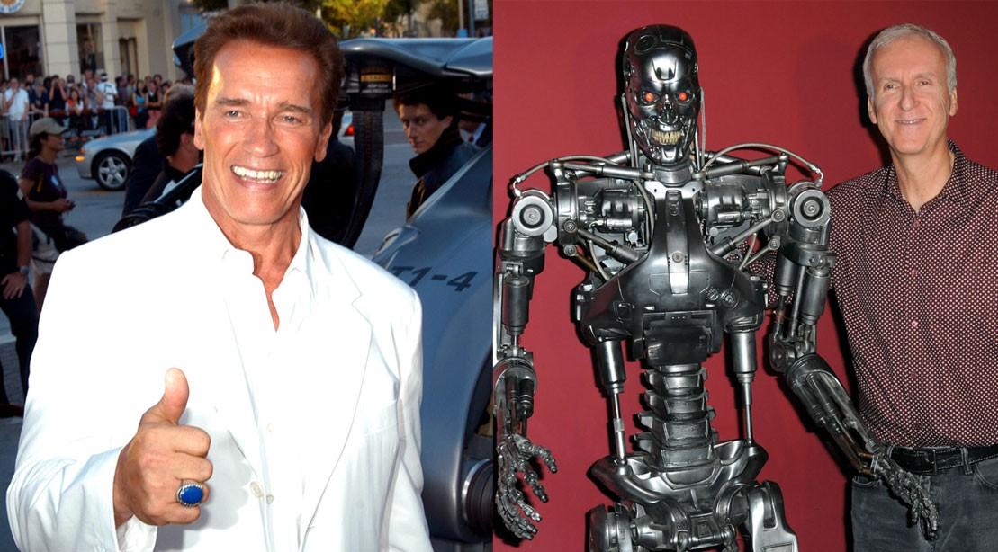 Arnold Schwarzenegger, Terminator, James Cameron