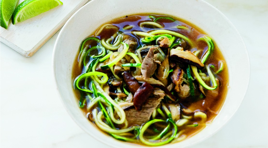 Asian Beef Zoodle Soup