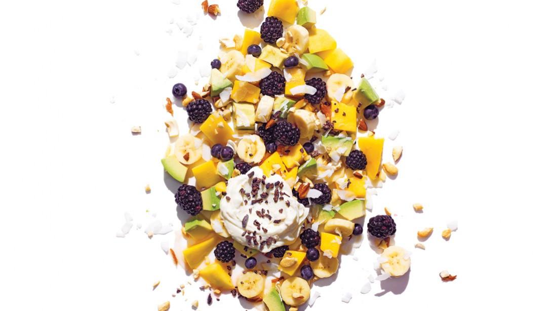Healthy Breakfast - Avocado Fruit Salad