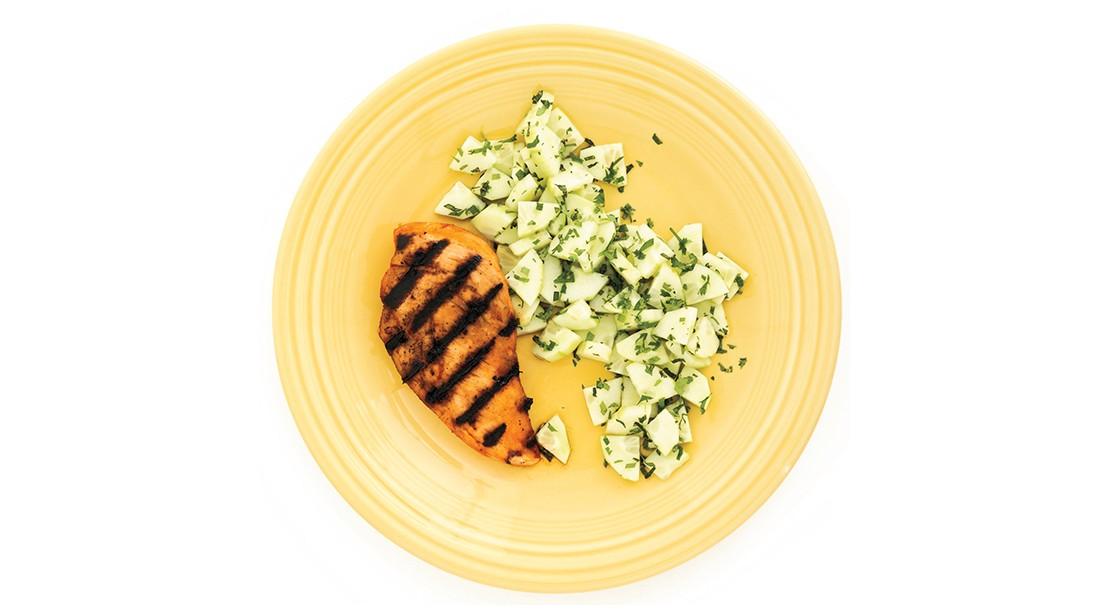 BBQ Chicken and Cucumber Salad